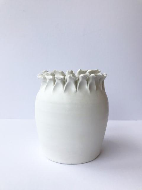 Emma Jagare, Medium White Onion Top Vase, 2019
