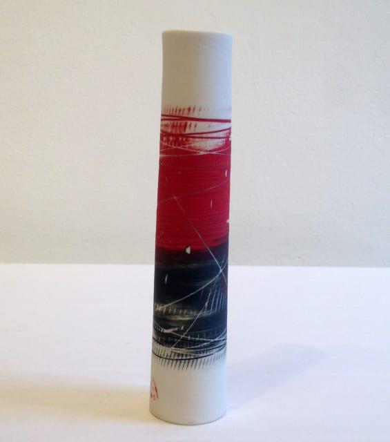 Cylinder Vase - Red and Black , 2018