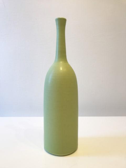 Pistachio Green Vessel, Tall Bottle