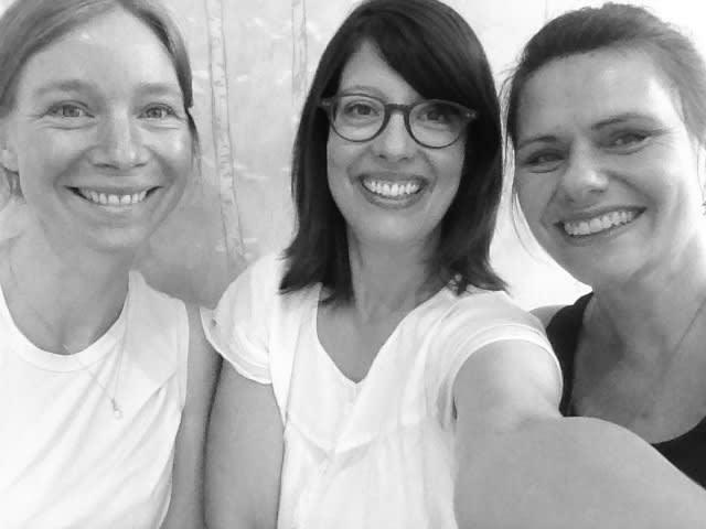 The Sarah Wiseman Gallery Team: (L-R) Johanna, Sarah L, Sarah W