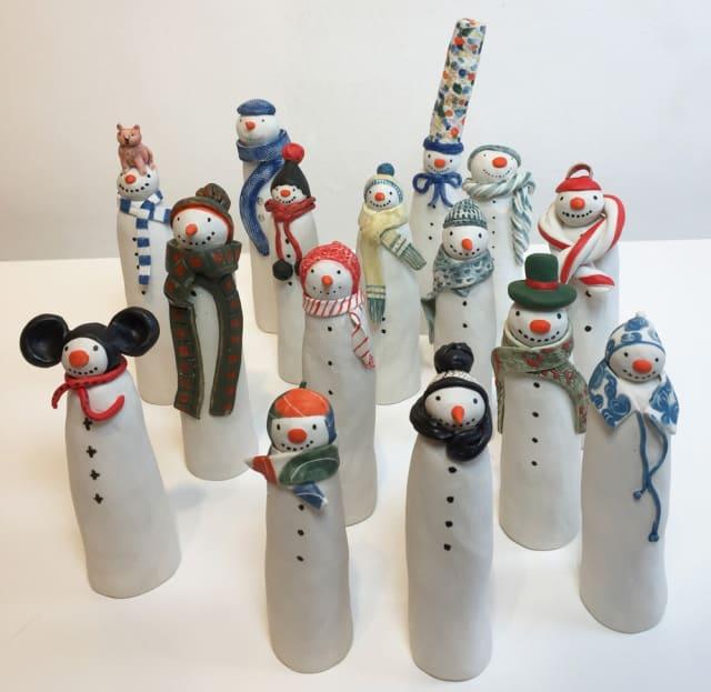 Clare Nicholls, Ceramic snowmen