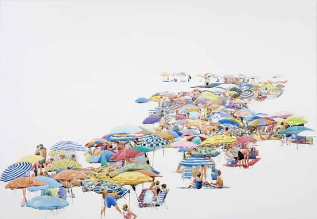 Annabelle Shelton, 'Floating Beach', watercolour on aluminium