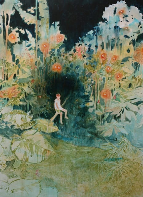 Daniel Ablitt, 'Daydream (Jungle)' oil on panel, H 110 x 80 cm
