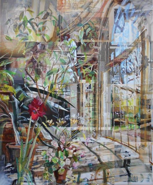 Alison Pullen, mixed media, Osterley Park House Garden Room, H 114 x 97 cm framed