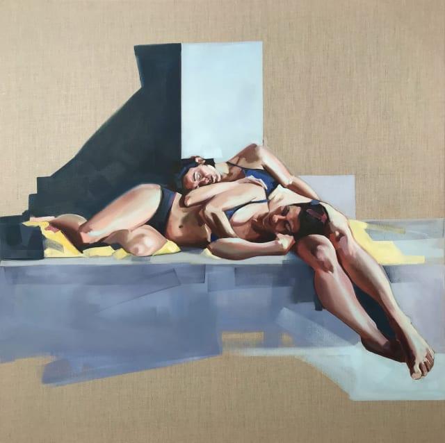 Clare Bonnet, 'Sanctum', oil on linen, 100 x 100 cm, £2000
