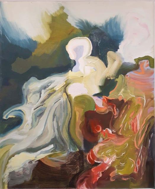 Una d'Aragona, 'Wilder', Oil on canvas, H 50 x 41 cm