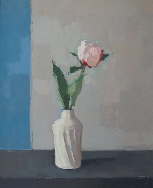 Sarah Spackman, 'Pink Peony'. oil on canvas H 46 x 38 cm