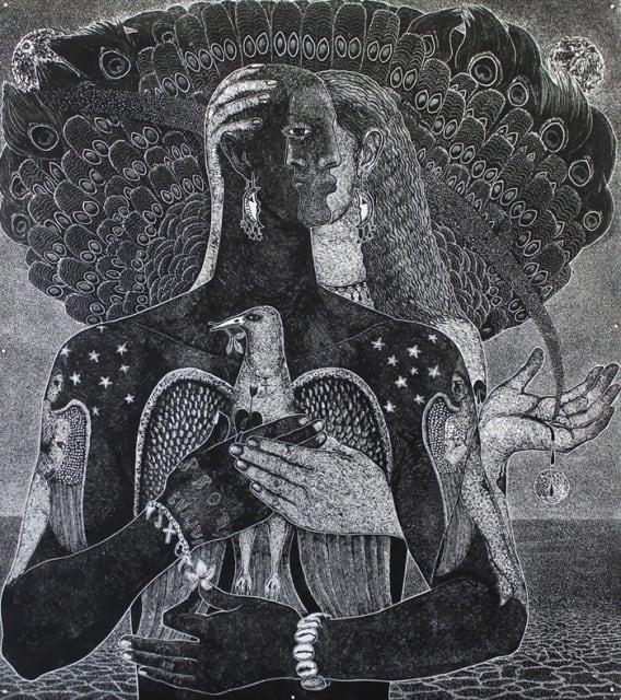 Ade Adesina/June Carey, 'An Offer of Love', Lino-cut print on paper