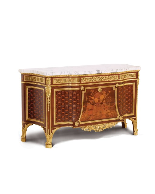 Matching pair of Louis XVI style Commode à Vantaux