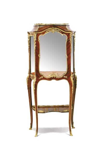 A gilt-bronze mounted kingwood display cabinet