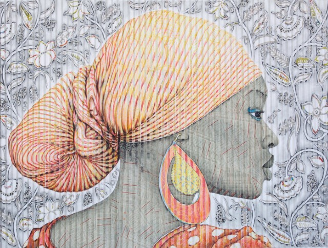 Gary Stephens, Leticia, The Striped Scarf, 2020