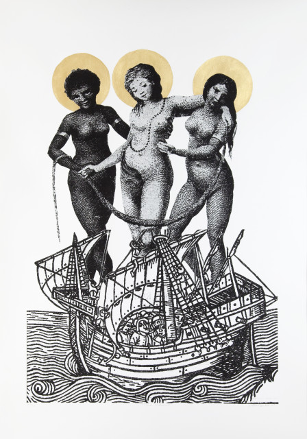 Godfried Donkor, THREE MADONAS, 2009