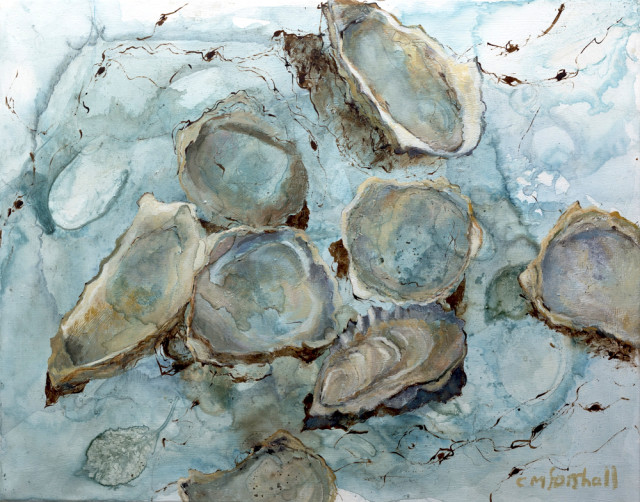Catherine Forshall, Oysters, Incoming Tide, 2020