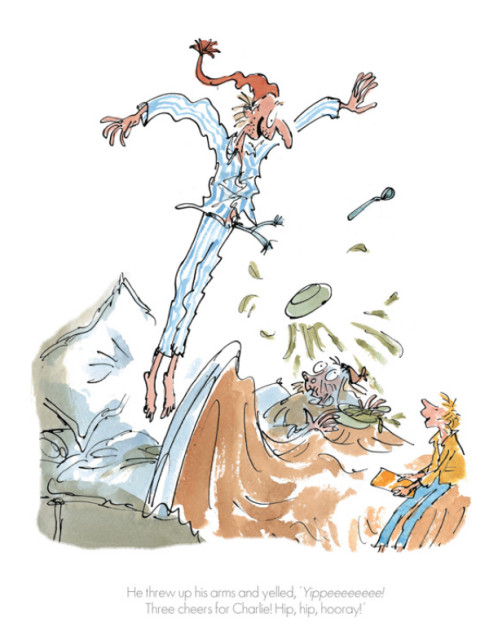 Quentin Blake/Roald Dahl, Three Cheers for Charlie!