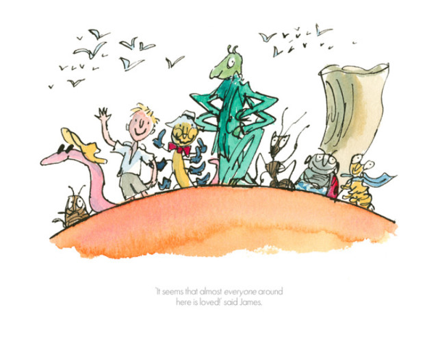 Quentin Blake/Roald Dahl, It Seems that Everyone Around Here is Loved