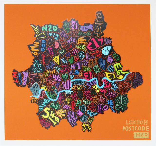 London Postcode (Orange), 2013