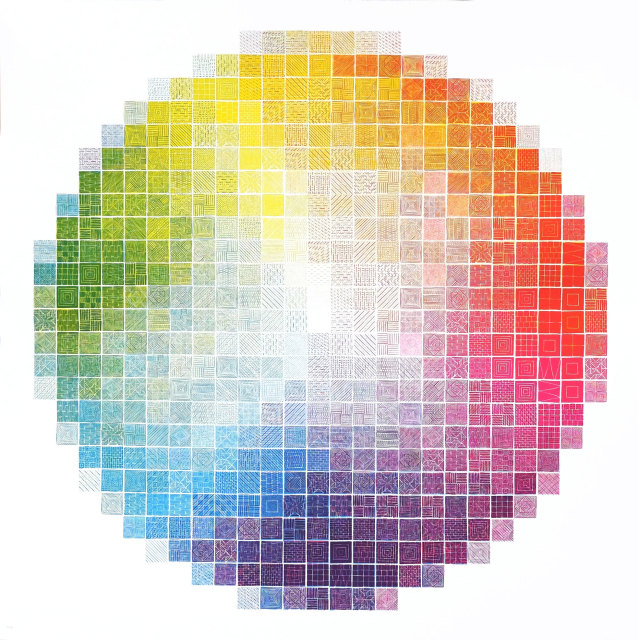 Jess Wilson, Colour wheel experiment 1