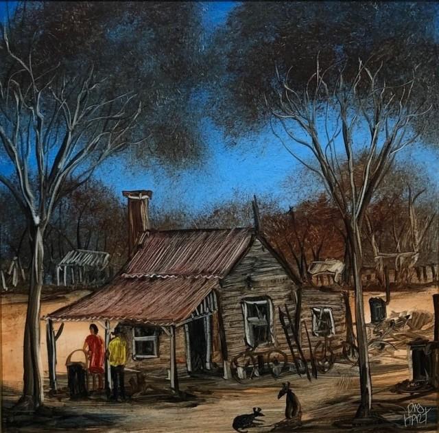 Pro Hart, Stockman's Hut