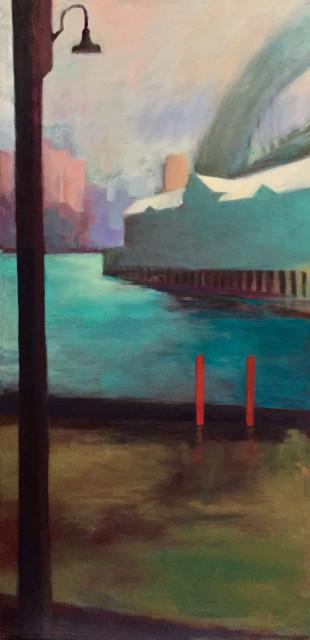 Sue Macleod-Beere, Wet Day-Pier 1, 2018