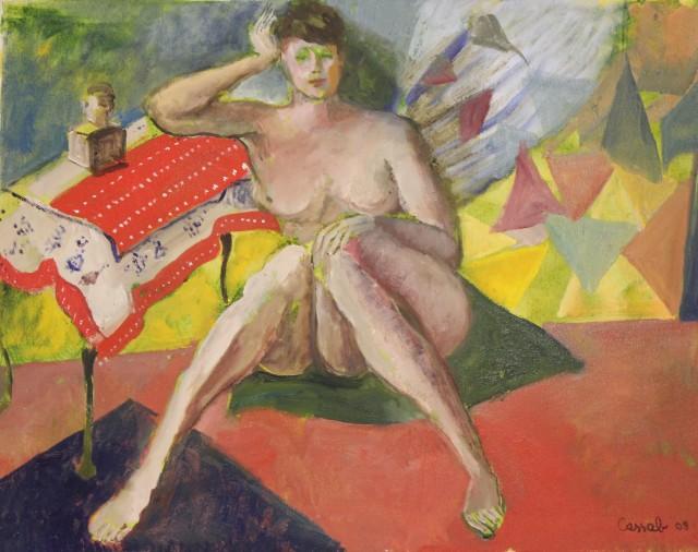 Judy Cassab AO, CBE, Seated Nude, 2008