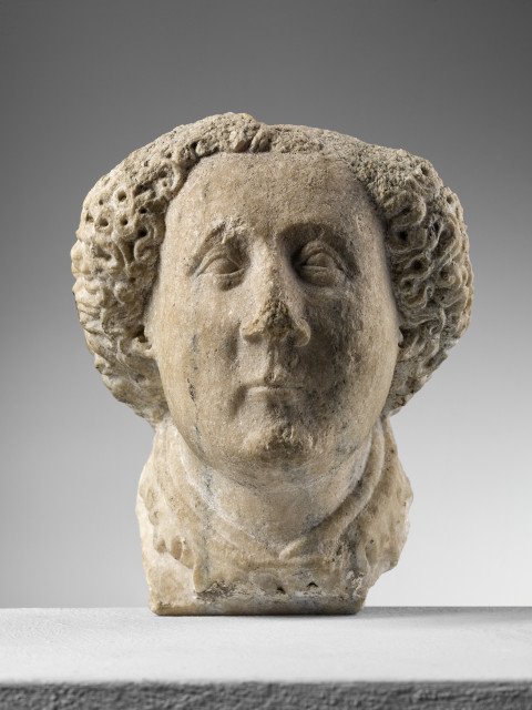 <span class=&#34;artist&#34;><strong>Pupil of Jacopino da Tradate</strong></span>, <span class=&#34;title&#34;><em>Corbel depicting the head of a young man</em>, 1410-20 circa</span>