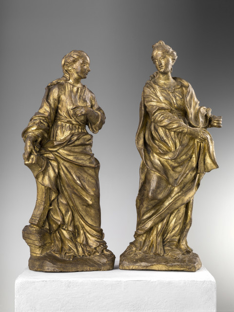 <span class=&#34;artist&#34;><strong>Pietro Baratta</strong></span>, <span class=&#34;title&#34;><em>ST CATHERINE OF ALEXANDRIA AND FIGURE OF A FEMALE SAINT</em></span>