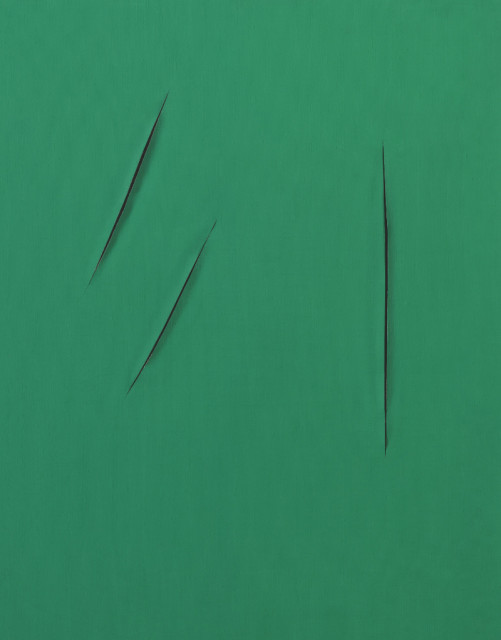 <span class=&#34;artist&#34;><strong>Lucio Fontana</strong></span>, <span class=&#34;title&#34;><em>CONCETTO SPAZIALE, ATTESE</em>, 1959</span>