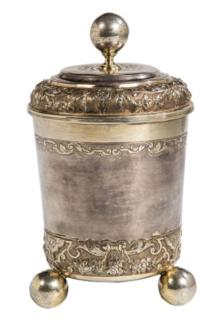 <span class=&#34;artist&#34;><strong>Philipp Stenglin</strong></span>, <span class=&#34;title&#34;><em>A gilt silver pierced beaker with lid</em>, Augsburg, early 18th Century</span>