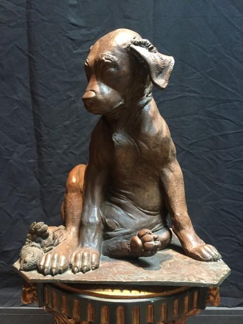 <span class=&#34;artist&#34;><strong>Sirio Tofanari</strong></span>, <span class=&#34;title&#34;><em>Bronze Sculpture of a Dog</em></span>