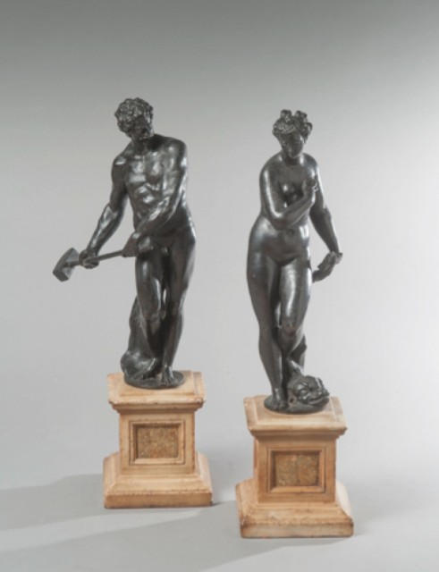 Tiziano Aspetti, A Pair of Bronze Figures of Venus Marina and Vulcano, Late 16th Century