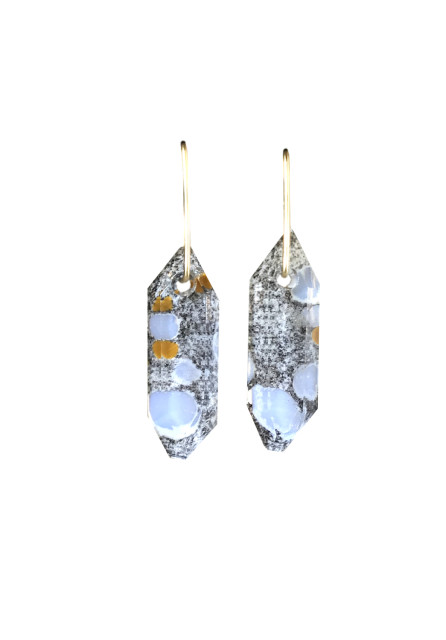 Spotted Quartz Dangle Earrings