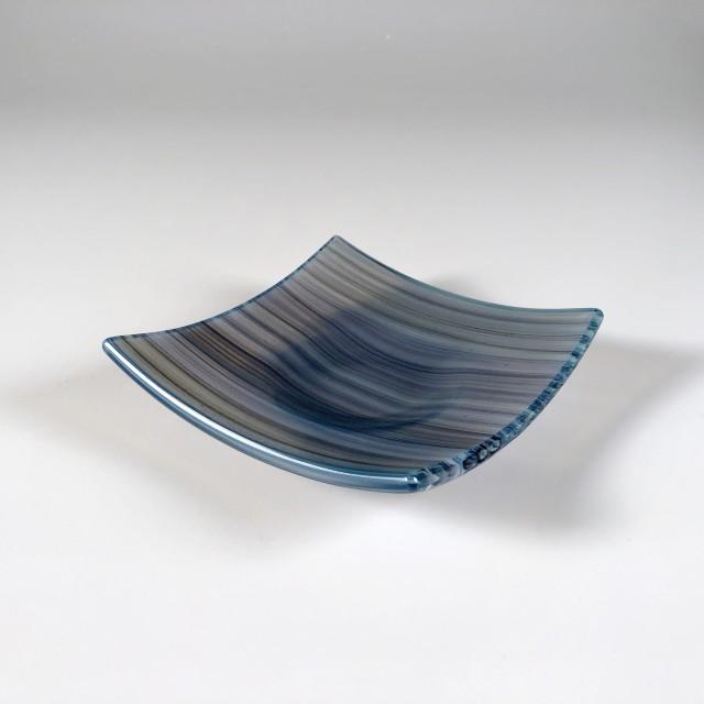 Opaline Cane Dish (Gray/Blue) 01