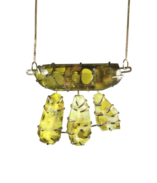 Spotted Quartz Prong Set Necklace