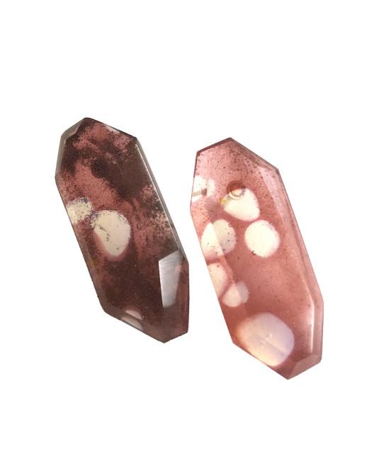 Spotted Quartz Post Earrings