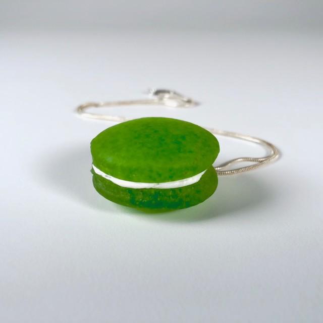 Spring Green Macaron Necklace