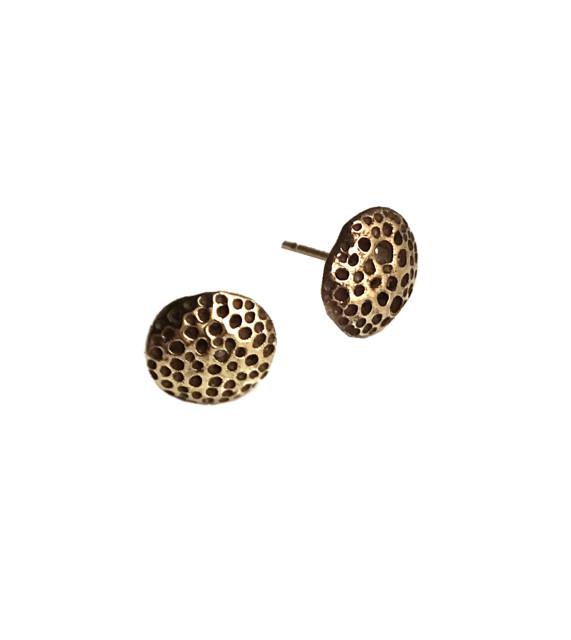 Petrified Spongy Coral Post Earrings
