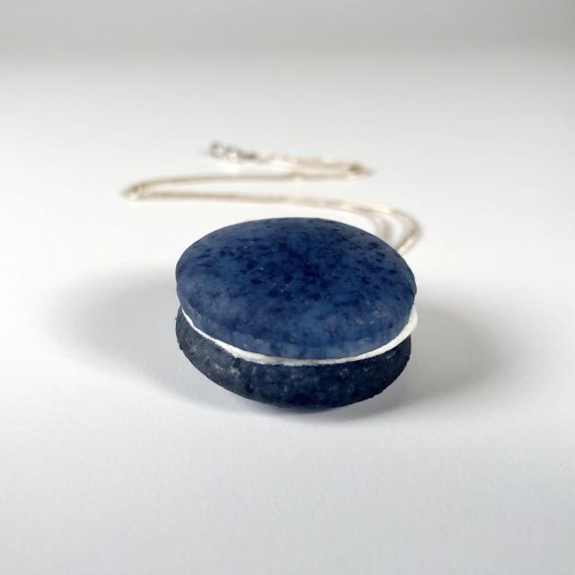 Navy Macaron Necklace