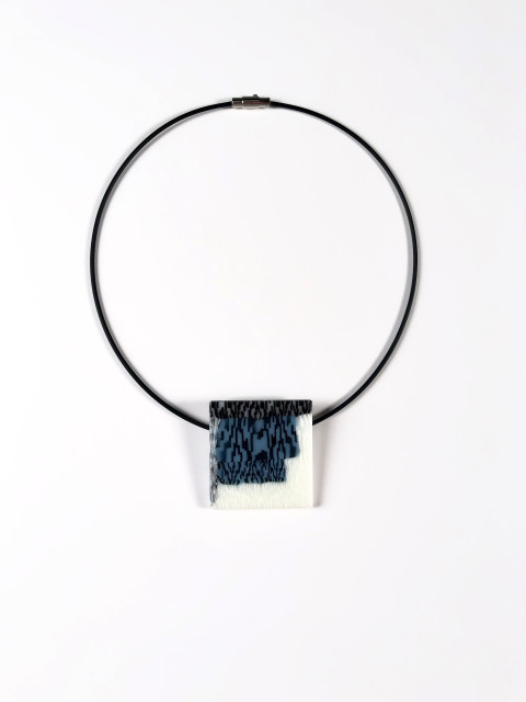 Blue, Black, and White Pendant