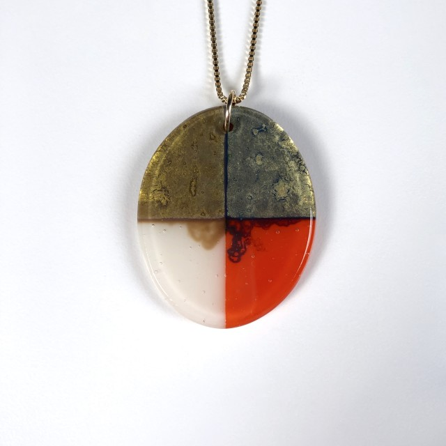 Quadrant Series - Glass Pendant Necklace No.2