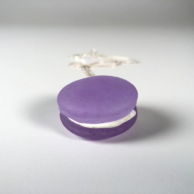 Neo-Lavender Macaron Necklace
