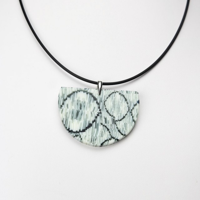 Green Wedge Pendant Necklace