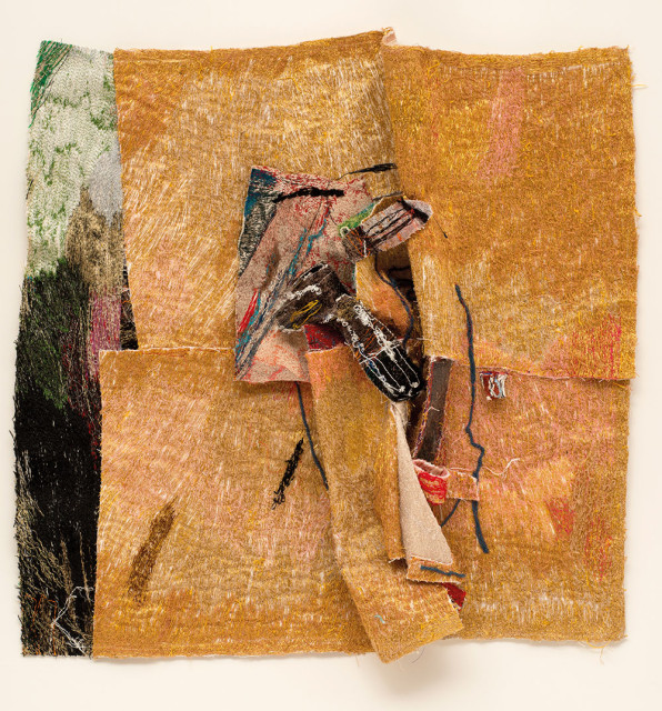 Alice Kettle  Incubus, 2011  Thread on canvas and felt  90 x 96 cm