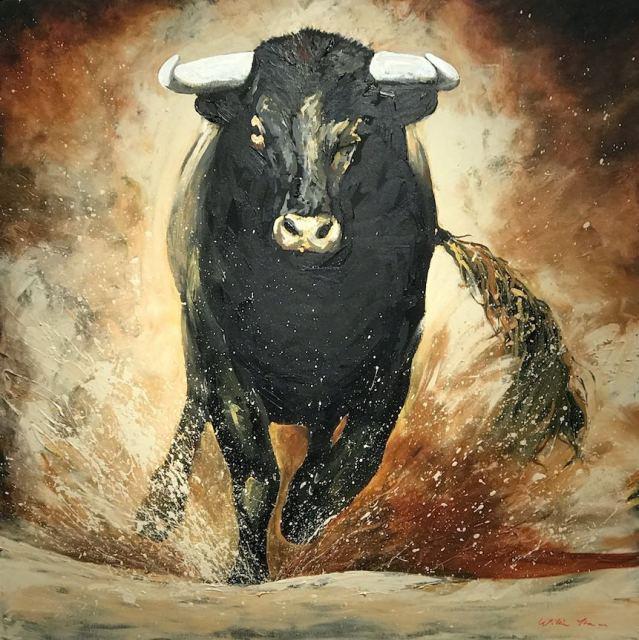 Charging Bull (caramel) 1.4m, 2017