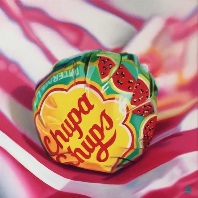 <span class=&#34;artist&#34;><strong>Sarah Graham</strong></span>, <span class=&#34;title&#34;><em>Watermelon Chupa  - Original</em></span>