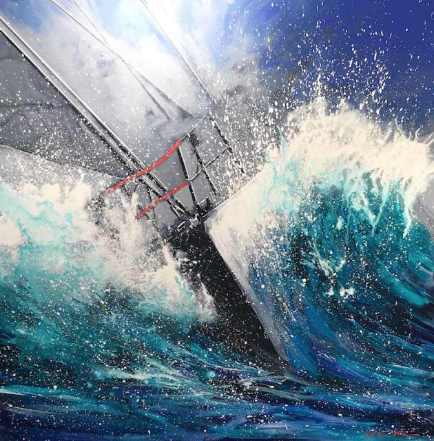 <span class=&#34;artist&#34;><strong>William Thomas</strong></span>, <span class=&#34;title&#34;><em>Racing East 1.4m</em>, 2017</span>