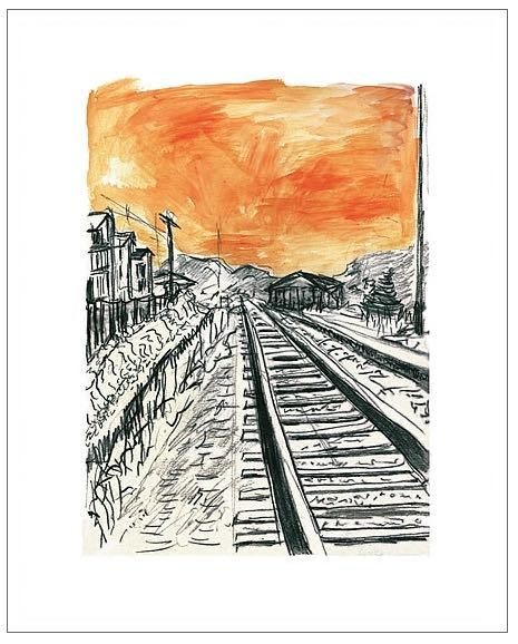 Train Tracks (orange), 2008 - CALL FOR PRICE