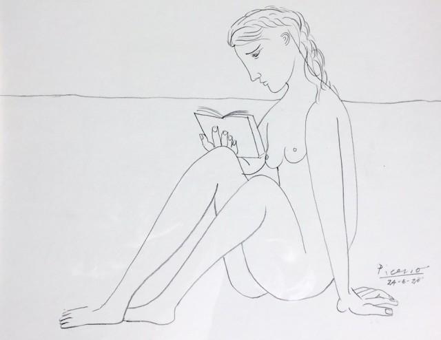 Reading Nude - Original