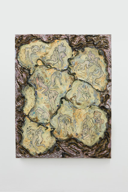 Monika Grabuschnigg Rite of passage, 2020 Glazed ceramic 105 x 84 x 3 cm 41 3/8 x 33 1/8 x 1 1/8 in