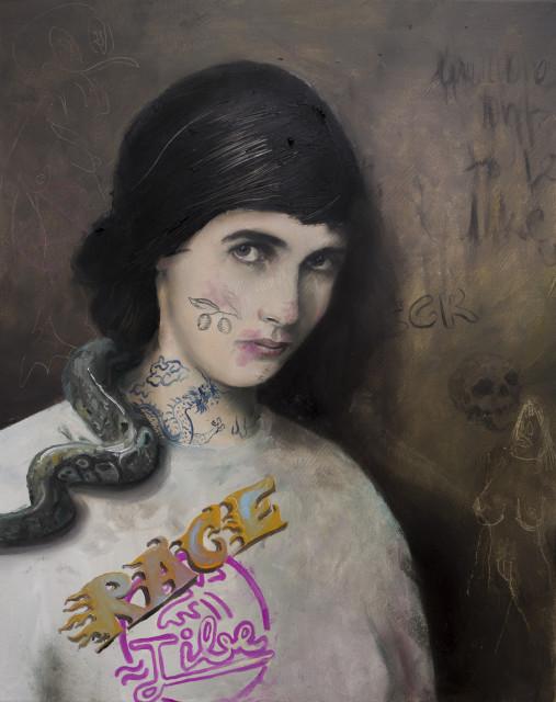 Philip Mueller Maya Tibe Race, 2019 Oil on canvas 60 x 40 cm 23 5/8 x 15 3/4 in