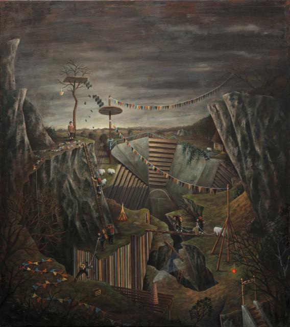 Bernhard Buhmann Arena, 2011 Oil on canvas 180 x 160 cm 70 7/8 x 63 in